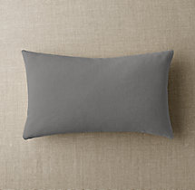 Custom Brushed Linen Cotton Knife-Edge Lumbar Pillow Cover