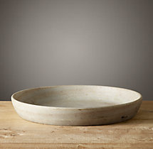 Lathe-Turned Marble Bowl - Extra Large Slanted