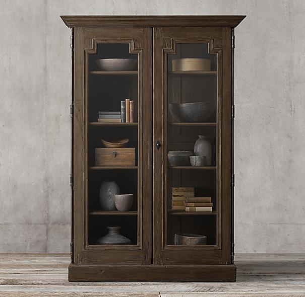 Montpellier Glass Double-Door Cabinet