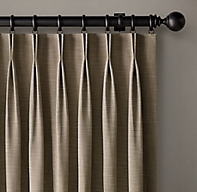 Custom Perennials® Textured Linen 2-Fold French-Pleat Drapery