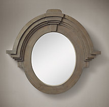Salvaged Mansard Mirror - Natural