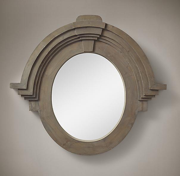 Salvaged Mansard Mirror