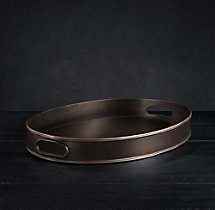 Vintage Hotel Medium Oval Tray With Handles