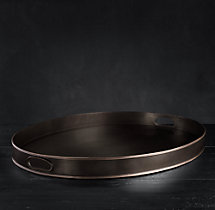 Vintage Hotel Extra-Large Oval Tray With Handles