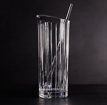 Boulevard Cut Crystal Martini Pitcher & Stirrer