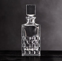 Madison Cut Crystal Square Decanter