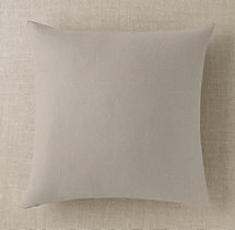 Custom Basket Weave Linen Knife-Edge Square Pillow Cover