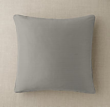 Custom Thai Silk Solid Piped Square Pillow Cover