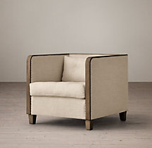 Shelter Arm Upholstered Chair