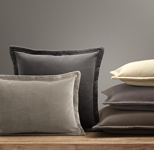 Custom Vintage Velvet Flanged Pillow Cover