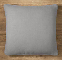Custom Heavyweight Belgian Linen Piped Square Pillow Cover