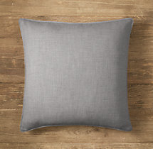 Custom Perennials® Classic Linen Weave Stitched Square Pillow Cover