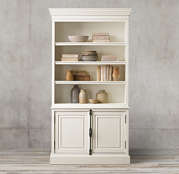 French panel double door sideboard open hutch for Double open french doors