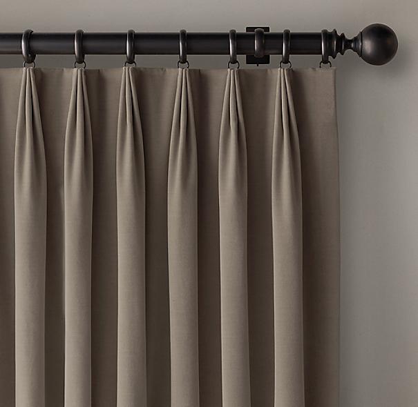 Custom Vintage Velvet 3 Fold Tailored Pleat Draperyselect