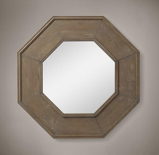 salvaged octagonal mirror