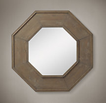 Salvaged Octagonal Mirror - Natural
