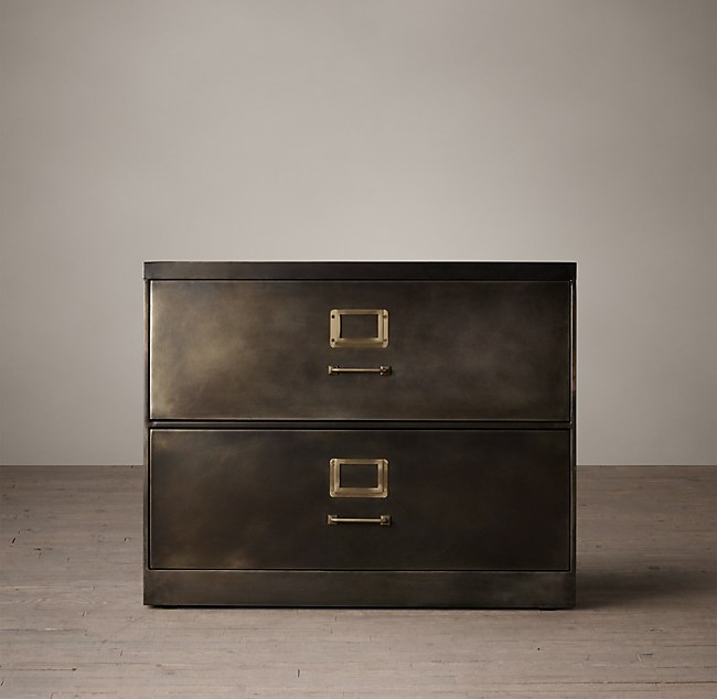 1940s Industrial Modular Office 36 2 Drawer File Cabinet