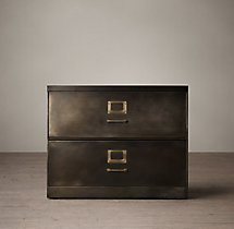 "1940S Industrial Modular Office 36"" 2-Drawer File Cabinet"