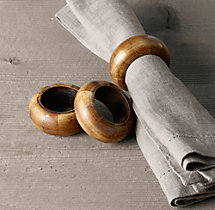 Natural Bone Napkin Rings (Set of 4)