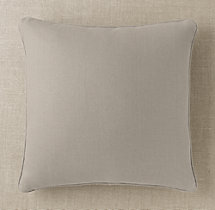 Custom Basket Weave Linen Piped Square Pillow Cover