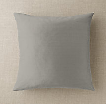 Custom Thai Silk Solid Knife-Edge Square Pillow Cover