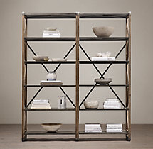 20th C. Zinc Truss Double Shelving