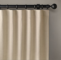 Belgian Linen Cross Weave Drapery - Rod-Pocket