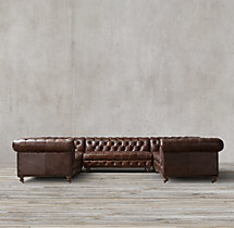 Cambridge Leather U-Sofa Sectional