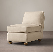 Classic Lancaster Upholstered Armless Chair