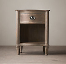 "20"" Empire Rosette Open Nightstand"
