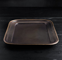 Vintage Hotel Small Rectangular Tray