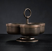 Vintage Hotel 3-Bowl Condiment Server