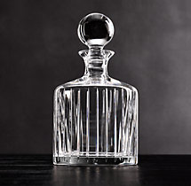 Boulevard Cut Crystal Round Decanter