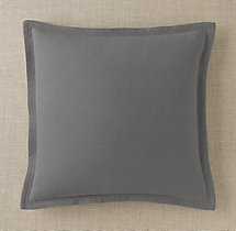 Custom Brushed Linen Cotton Flanged Square Pillow Cover