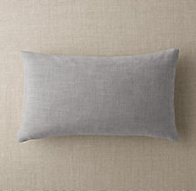 Custom Perennials® Classic Linen Weave Knife-Edge Lumbar Pillow Cover
