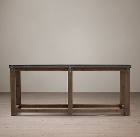 Reclaimed Wood Zinc Top 80 Console
