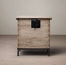 18th C. Oak Trunk Side Table