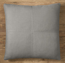 Custom Belgian Textured Linen 4-Square Square Pillow Cover