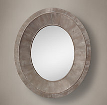 Salvaged Oval Pieced Mirror - Natural