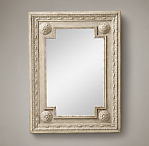 Louis XVI Beaded Mirror - Taupe