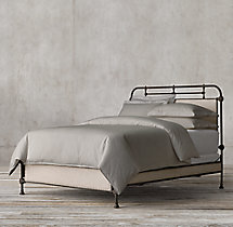 French Académie Upholstered Bed