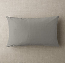 Custom Thai Silk Solid Knife-Edge Lumbar Pillow Cover