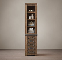 Early 20th C. Mercantile Tall Bath Cabinet