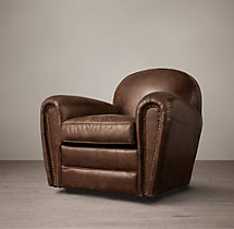 Duncan Leather Swivel Chair