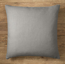 Custom Belgian Textured Linen Knife-Edge Square Pillow Cover