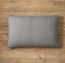 Custom Belgian Textured Linen 4-Square Lumbar Pillow Cover