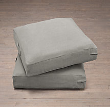 Custom Belgian Textured Linen Floor Pillow