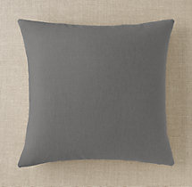 Custom Brushed Linen Cotton Knife-Edge Square Pillow Cover
