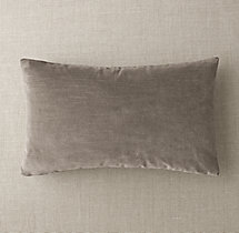 Custom Vintage Velvet Knife-Edge Lumbar Pillow Cover