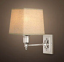 Claridge Single Sconce With Linen Shade